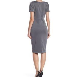 Alexia Admor Dresses - Alexia Admor | scuba midi sheath dress NWT grey